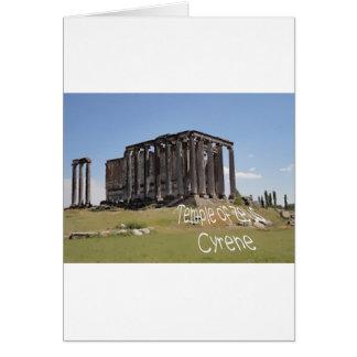 templo del cyrene copy.jpg del zeus tarjeta de felicitación