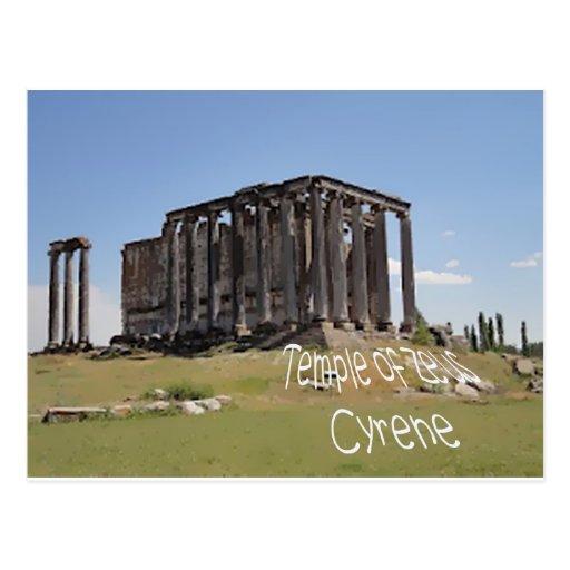 templo del cyrene copy.jpg del zeus tarjetas postales