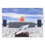 Templo del fuego de la Atlántida Felicitación