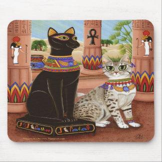 Templo del gato Mousepad de la diosa de la estopa  Alfombrillas De Ratones
