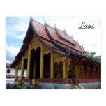 templo del luang tarjeta postal