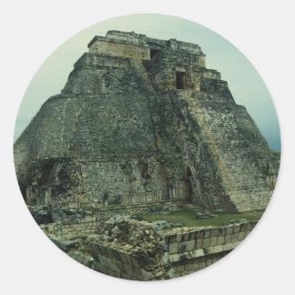 Templo del mago Uxmal Yucatán México Pegatina