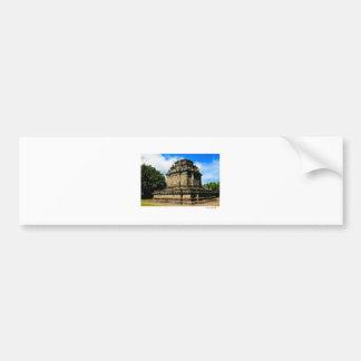 templo del mendut etiqueta de parachoque