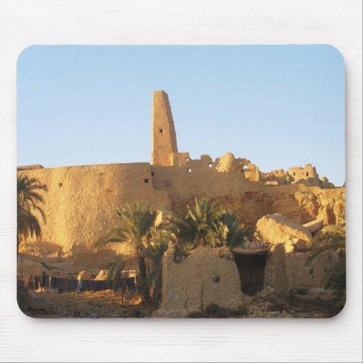 Templo del oasis de Oracle Siwa en Egipto Tapetes De Ratón