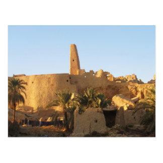 Templo del oasis de Oracle Siwa en Egipto Tarjeta Postal