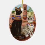 Templo del ornamento del gato de la diosa de la es adorno de reyes