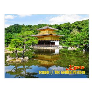Templo del pabellón de oro, Kyoto, Japón Postal