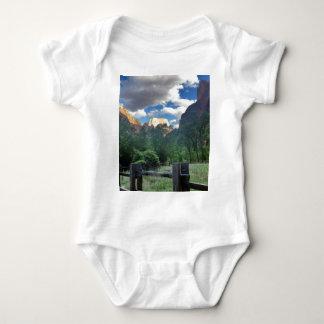 Templo del parque nacional Utah de Sinawava Zion Body Para Bebé