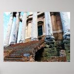 Templo del POSTER de Antoninus y de Faustina