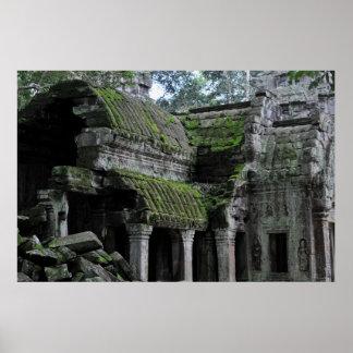 templo del prohm de TA en Camboya Póster