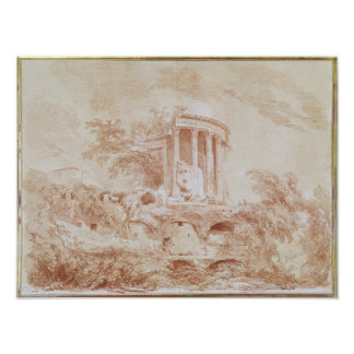 Templo del Sybil en Tivoli Posters