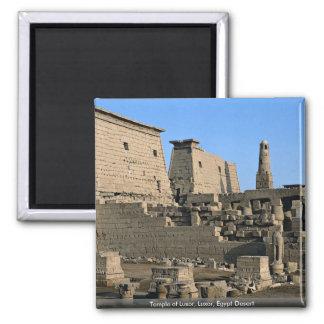 Templo desierto de Luxor, Luxor, Egipto Imán Cuadrado