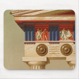 Templo dórico antiguo griego antiguo del vintage alfombrillas de ratones