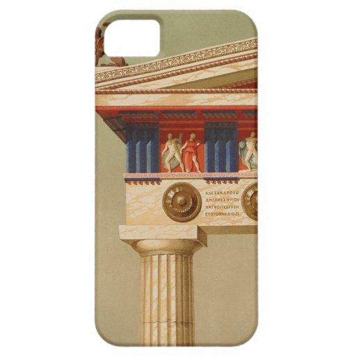 Templo dórico antiguo griego antiguo del vintage iPhone 5 Case-Mate protectores