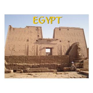 Templo Egipto de Edfu Tarjeta Postal