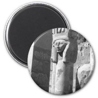 Templo Egipto de la reina Hatshepsut Imán Redondo 5 Cm
