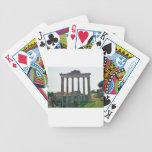 Templo en el foro romano baraja cartas de poker