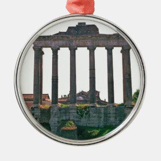 Templo en el foro romano adorno