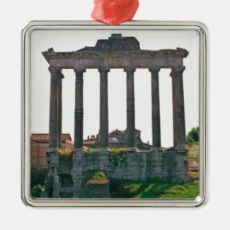 Templo en el foro romano adorno para reyes