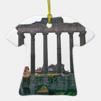 Templo en el foro romano ornamentos de navidad