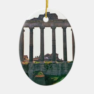 Templo en el foro romano ornamento para reyes magos