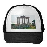 Templo en el foro romano gorros