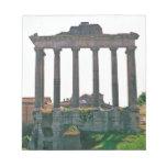 Templo en el foro romano libreta para notas