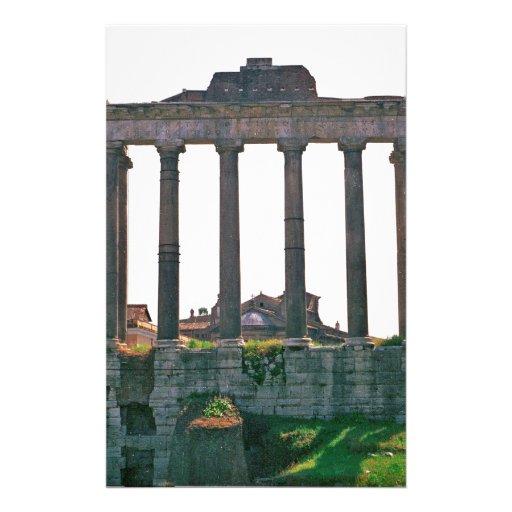 Templo en el foro romano personalized stationery