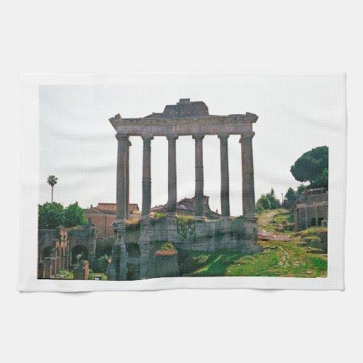 Templo en el foro romano toalla