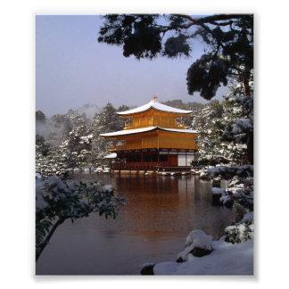 Templo en invierno arte fotografico