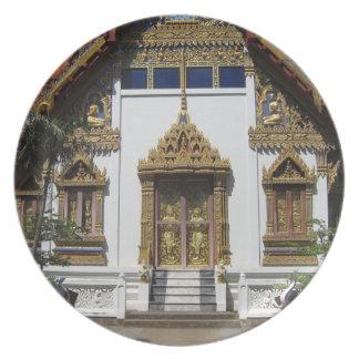 Templo en Tailandia Platos Para Fiestas