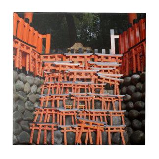 Templo Extremo Oriente de piedra Azulejo Cuadrado Pequeño
