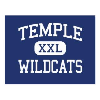 Templo - gatos monteses - High School secundaria - Postal