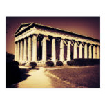 Templo griego en Atenas Tarjeta Postal