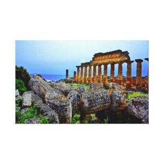 Templo griego lona envuelta para galerías