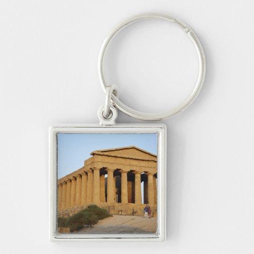 Templo griego llaveros personalizados