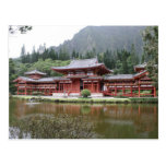 templo Hawaii del byodo Tarjeta Postal
