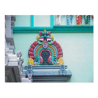 Templo hindú de Chettiar, decoración Postales