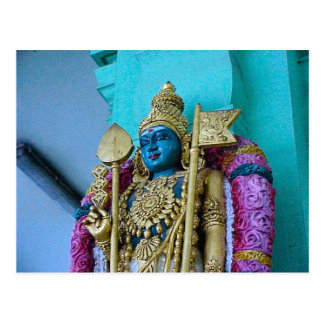 Templo hindú de Chettiar, diosa hindú Postales