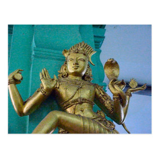 Templo hindú de Chettiar, estatua de dios Tarjetas Postales