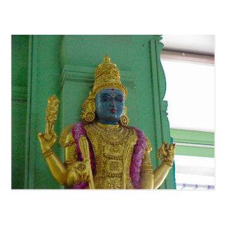 Templo hindú de Chettiar, estatua de la diosa Tarjetas Postales