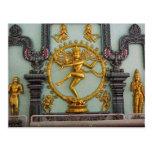 Templo hindú de Chettiar, estatua de Shiva Postal