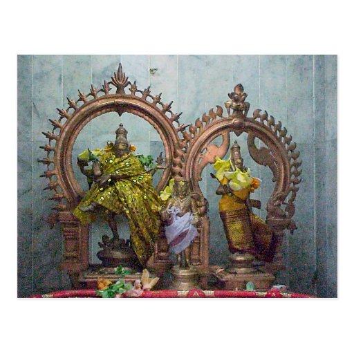 Templo hindú de Chettiar, mini capilla Postales