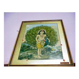 Templo hindú de Chettiar, pintura de Rama Tarjetas Postales