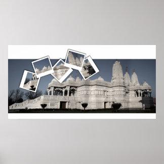 Templo hindú de Mandir Póster