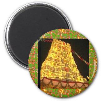 Templo hindú de TIRUPATI: La India del sur Imán Redondo 5 Cm