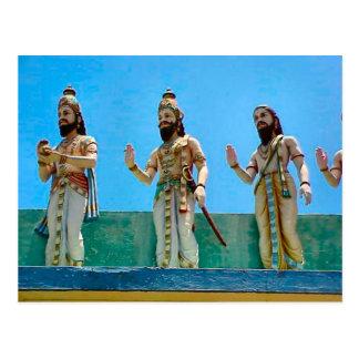 Templo hindú, defendiendo el templo tarjeta postal