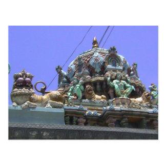 Templo hindú, detalle de la decoración del tejado tarjetas postales