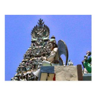 Templo hindú, detalles de figuras postales