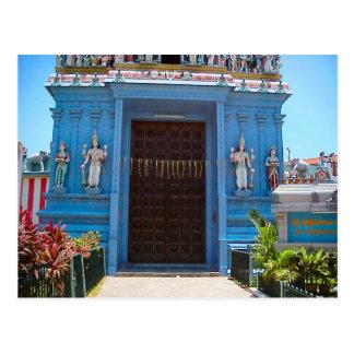 Templo hindú, entrada bajo gopuram tarjeta postal